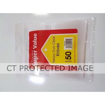 Clear Heavy Duty Plastic Knives (packquantity50)