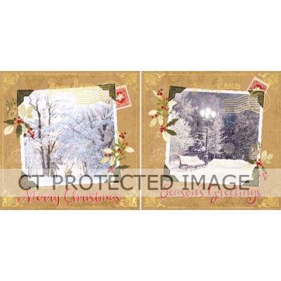 Postcard Snowscene Acetate Cards   (packquantity12) X24