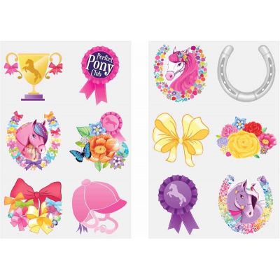 6pc 2assorted Ponies Tattoos  96s