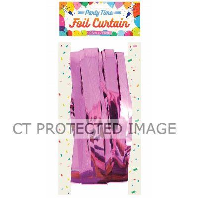 Baby Pink Foil Door Curtain