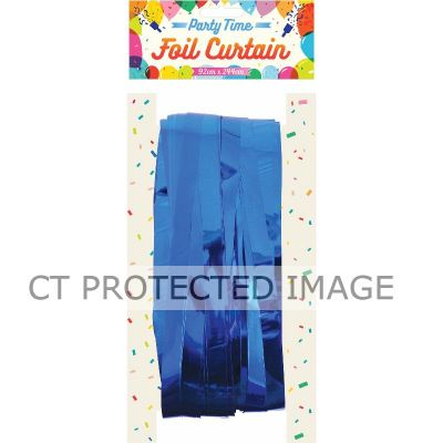 Blue Foil Door Curtain
