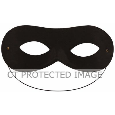 Domino Shape Black Eye Mask