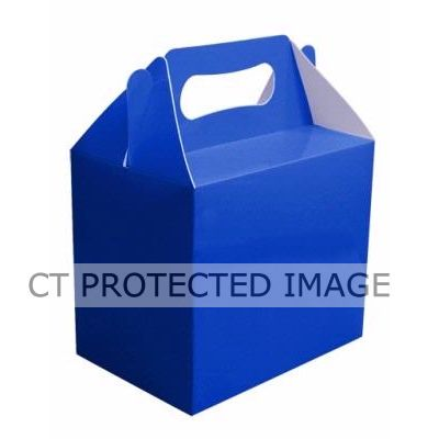 Royal Blue Lunch Boxes (pack quantity 6)