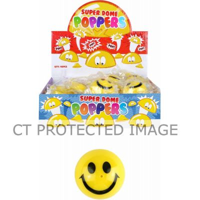 45mm Yellow Smile Face Poppers  48s