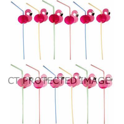 Flamingo Straws (packquantity12)