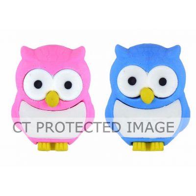 Assorted Owl Eraser  80s