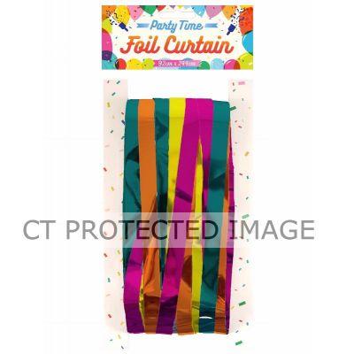 Mixed Colours Foil Door Curtain