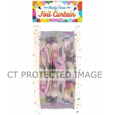 Iridescent Foil Door Curtain