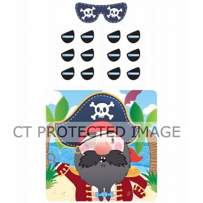 14pc Stick The Eye Patch On The Pirate Game