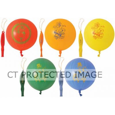 Printed Punch Balloons (pack quantity 5)