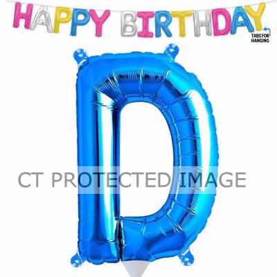 13.5 Inch Air Fill Letter D Blue