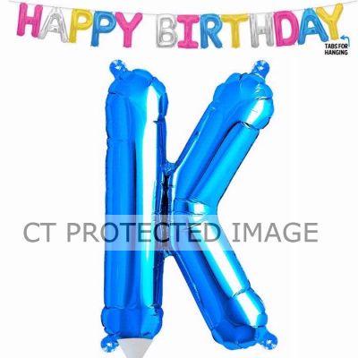 13.5 Inch Air Fill Letter K Blue