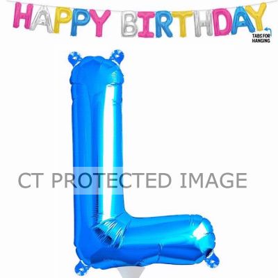 13.5 Inch Air Fill Letter L Blue