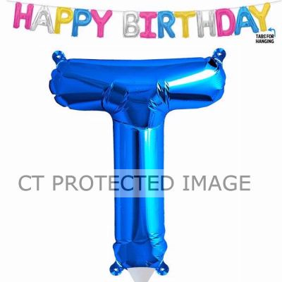 13.5 Inch Air Fill Letter T Blue