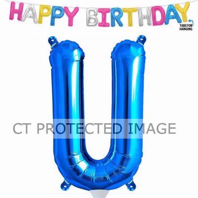 13.5 Inch Air Fill Letter U Blue