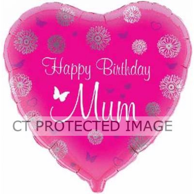 18 Inch Happy Birthday Mum Foil
