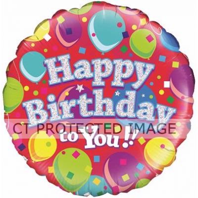 18 Inch Happy Birthday To You Foil