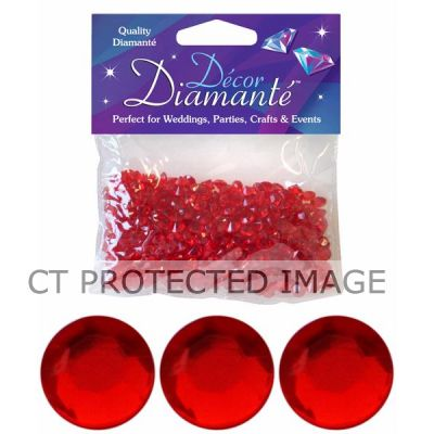 6mm Red Diamante Diamonds