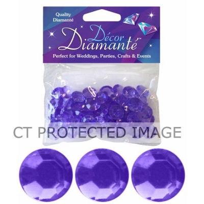 12mm Lavender Diamante Diamonds