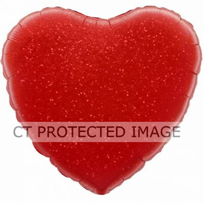 Red Holographic Heart 18 Inch Foil