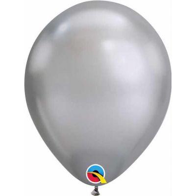 7 Inch Silver Chrome Qualatex (packquantity100)