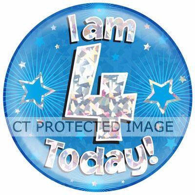 6ini Am 4 Today Blue Jumbo Badge