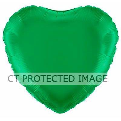 18 Inch Green Heart Foil Balloon