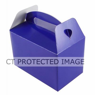 Royal Blue Party Boxes (packquantity6)