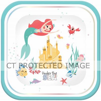 Ariel Under The Sea Sq Plates (pack quantity 4)