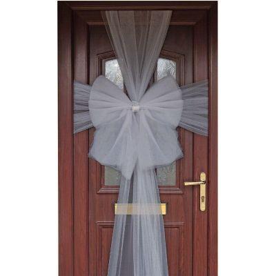 Silver Eleganza Door Bow