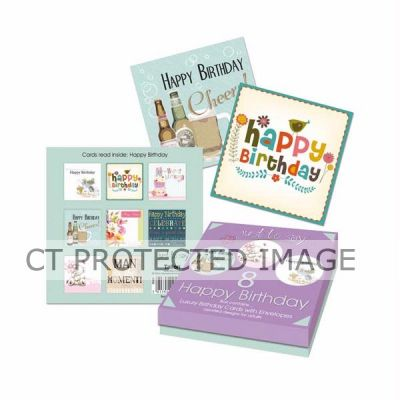 Adult Birthday Cards In Keepsake Box (pack quantity 8)