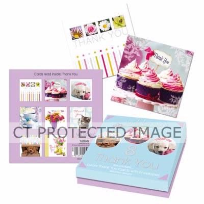 Assorted Thank You Cards Boxed (packquantity8)