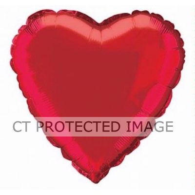 Red Heart 18 Inch Foil Balloon