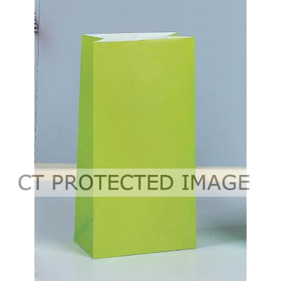 Paper Party Bags Lime Green (packquantity12)
