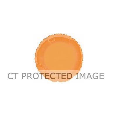 Round Orange 18 Inch Foil Balloon
