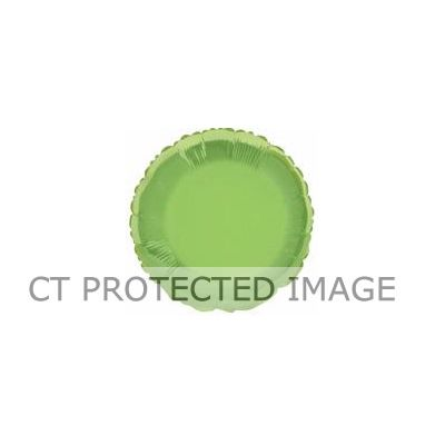 Round Lime Green 18 Inch Foil Balloon