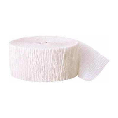 81ft Crepe Streamer White