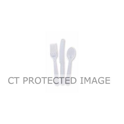 Assorted Clear Cutlery (pack quantity 18)