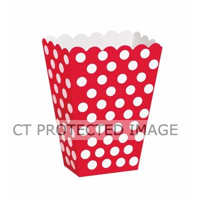Red Dots Treat Boxes (pack quantity 8)