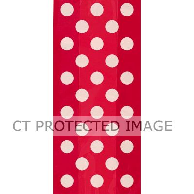 Red Dots Cello Bags (pack quantity 20)