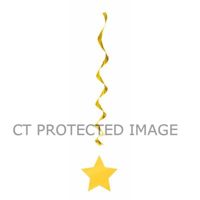 36 Inch Yellow Swirl Decorations (packquantity3)