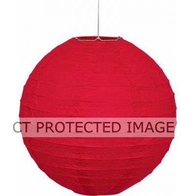 10 Inch Ruby Red Round Lantern Ruby Red