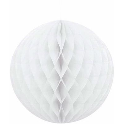 8 Inch White Honeycomb Ball