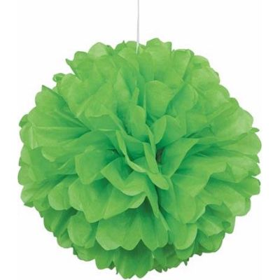 16 Inch Lime Green Puff Decor
