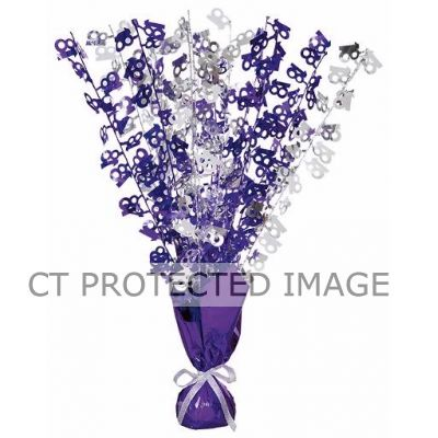 Purple & Silver 18th Birthday Centrepiece