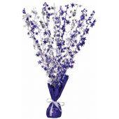 Purple Silver Stars Centrepiece