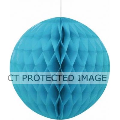 8 Inch Caribbean Teal Honeycomb Ball