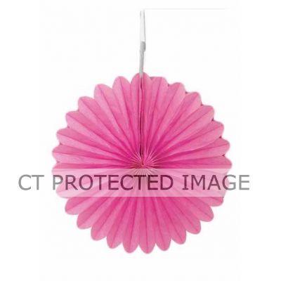 6 Inch Hot Pink Decorative Fan