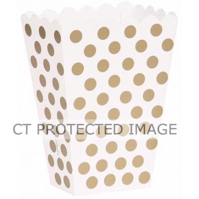 Gold Dots Treat Boxes (pack quantity 8)