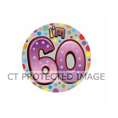 83mm 60th Birthday Unisex Badge